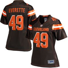 Xavier Cooper 96 Player Women s Short Sleeve T-Shirt Season Game Jerseys  Brown Size. nfl jerseys youth ... c19231ae6