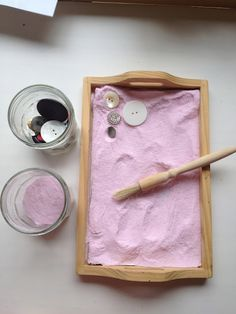 "coloured salt sensory prewriting play - one of many ""invitations to play"""