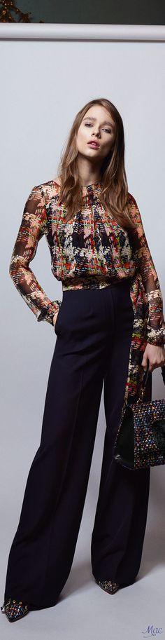 Pre-Fall 2017 Blumarine | fashion trends | womens fashion | 80s blouse | Polychrome
