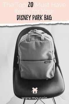 There are essentials that you will want to carry with you in your Disney park bag; identification, magic bands, prescription medication to name a few. Disney Vacation Club, Disney Cruise Line, Disney Vacations, Disney Trips, Disney World Packing, Disney Travel, Disney Diy, Magic Bands, Disney Planning