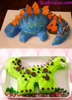 Dinosaur Cake Ideas Easy : U Cake Ideas Dino Cake, Dinosaur Cake, Dinosaur Party, Thomas Birthday, Baby Birthday, Birthday Cakes, Cake Designs, Grandkids, Cake Ideas
