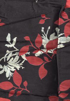 BIN 5 Dupion silk, screen printed, 0.80 m x 150 cm, maybe some scraps of khaki as well