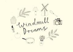 Logo design by Katt Frank for Windmill Dreams blog
