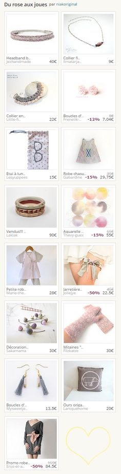 "Tendresse. Collection ""Du rose aux joues"" par niakoriginal. http://www.alittlemarket.com/page/ludique/collection_display.php?str_update=1&tresor_id=354717"