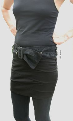 Stoffgürtel - Schwarzer Gürtel mit Spitze und Tüll - ein Designerstück von…