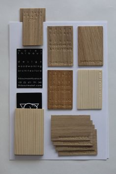 wooden business cards by Malet Thibaut, via Behance