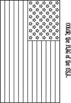 coloring page American Flag Daycare ideas Pinterest Flags