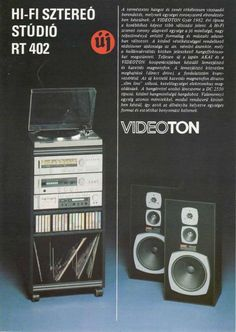 Vintage Records, Vintage Ads, Audio Rack, Audio Sound, Record Players, Boombox, Illustrations And Posters, Hungary, Tech