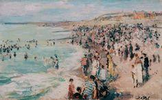 Dieppe Beach | Jacques-Émile Blanche [1910]