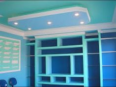 YouTube Drywall, Closet Layout, Ceiling Design, Bookcase, Garage Doors, Outdoor Decor, Youtube, Home Decor, Plaster Board
