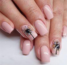 Thanksgiving Day is one of the most popular festivals in the year. Of course, we can not forget the nail art design. Beautiful nail art designs with Thanksgiving atmosphere are the mo Coffin Nails, Acrylic Nails, Gel Nails, Manicure, Nail Polish, Dandelion Nail Art, Dandelion Designs, Thanksgiving Nail Art, Fall Nail Art