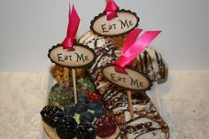 Alice in Wonderland Eat Me Cake Topper Picks  by anistadesigns, $16.00