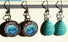 #summer #earrings #fimo Wind Chimes, Drop Earrings, Stone, Outdoor Decor, Summer, Jewelry, Home Decor, Fimo, Rock