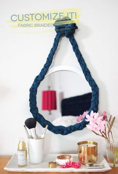 Customize It: Fabric Braided Mirror  #summer #vibes #currentlycoveting