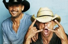 Tim McGraw and Kenny Chesney hot guys male celebs celebrities music country
