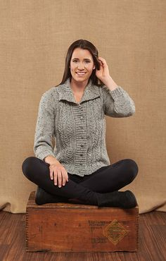Always in style, this simple cardigan, designed by Rae Blackledge in Willow Daily Tweeds Worsted yarn, will quickly become your go-to top.