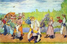 Carl Larsson - Outside Summer Winds Are Blowing