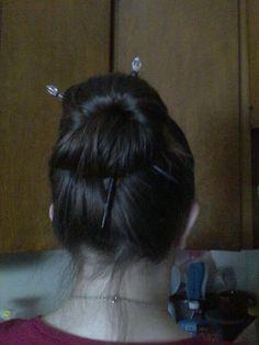 Hairsticks in my daughter's hair www.lillarose.biz/LisaHybarger