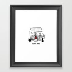 DO House Framed Art Print