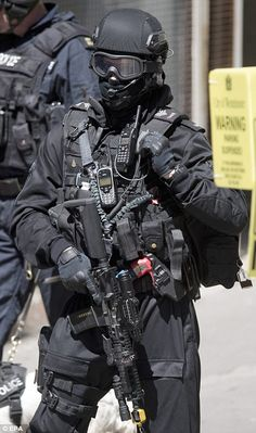 Military Armament | Police staging a mock Tunisia-style