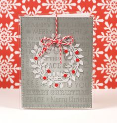 Nice simple card and love seeing the seasonal colors in use.  I want that background stamp
