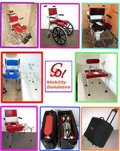 """<< GO! Mobility's """"GO-Anywhere"""" Chairs enable physically-challenged individuals and their families to TRAVEL wherever they'd like to go, whenever they want to go. Completely portable, these commode/shower chairs fold, pack away easily in their wheeled carrying case. Convenient, Patented and lightweight chairs are safe, easy to use and maintenance free. We ship worldwide & customer service is second to none! 30-Day Risk-FREE Trial, TAX:FREE >> CALL: 800.359.4021 E-MAIL: Sales@GoesAnywhere.com"""