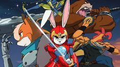 """This is what you'd get if you rolled a bunch of 80s cartoons like Thundercats and Silverhawks into one intro! - """"Rejoice in '80s-Style Cartoon Opening SUPER TURBO ATOMIC NINJA RABBIT"""""""