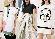 Edeline-Lee_SS16_London_Womens_Catwalk_Vogue Candy Shades - Bold Graphic Placements - 80's Mod Pop - Ruimtelijke Geometrics - Pastel Strepen - Yoko Honda Inspired