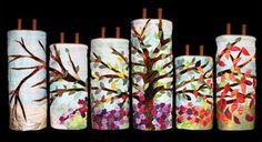 Tree Torah covers for Community Synagogue, Port Washington, New York Jeanette Kuvin Oren