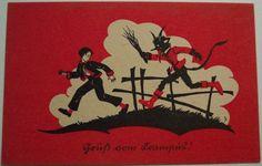 An early 1900s Krampus card (via Wikimedia)