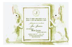 Bunny Hop | Polka Dot Design  #OddBalls #Easter #Invitations