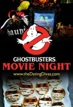 So many fun ideas for a Ghostbuster movie night.  Perfect for Halloween!! www.TheDatingDivas.com #Halloween #movienight