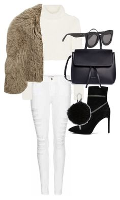 """""""Untitled #20821"""" by florencia95 ❤ liked on Polyvore featuring Frame, Pierre Balmain, Roberto Cavalli, Karl Donoghue, CÉLINE and Mansur Gavriel"""