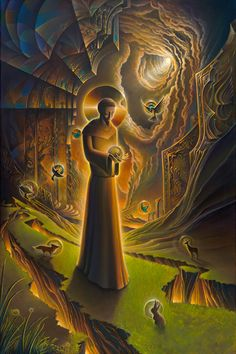 """Recognition/Compassion (St. Francis) by Michael Divine - TenThousandVisions """"Pure holy simplicity confounds all the wisdom of this world..."""" - St. Francis"""