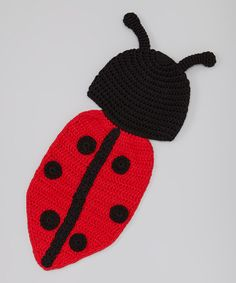 Look what I found on #zulily! Black & Red Lady Bug Dress-Up Set - Infant by Mon Petit Mardi #zulilyfinds