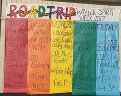 """Arroyo Grande High School celebrates Winter Spirit Week by taking a """"Road Trip"""" around the USA. Student Council Activities, High School Activities, Leadership Activities, Student Council Ideas, Group Activities, Teacher Resources, Homecoming Themes, High School Homecoming, Homecoming Spirit Week"""