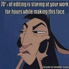 """""""I actually enjoy chopping up the first draft of my novel into pieces. It doesn't make me anxious at all."""" 