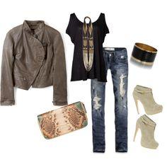 Vivienne Westwood jacket with Abercrombie jeans.  Jeanius!