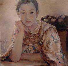 "Visions Fine Art Gallery - Sedona Arizona - Hu Jun Di ""Reflection"""