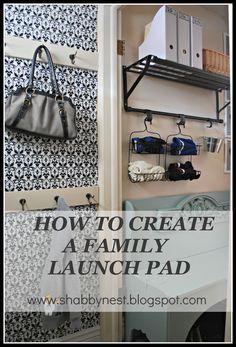 How to Create a Family Launch Pad, via The Shabby Nest