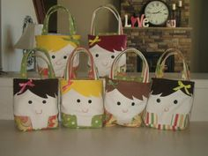 Cute personalized little tote bags. I know a few littles that would like to carry these! By: My Mix of Six: TIME