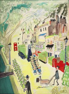 Ludwig Bemelmans illus. from 'Madeline in London' (1961).