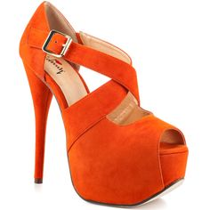 Wide Eyed - Orange @LuichinyShoes(heels)  available at @Heels.com