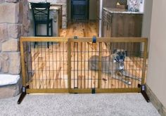 Carlson Pet Products Premium Hardwood Freestanding & Pressure Mount Extra Wide Pet Gate  Black  28 inch x 40-70 inch Review https://dogcratesandkennelsreviews.info/carlson-pet-products-premium-hardwood-freestanding-pressure-mount-extra-wide-pet-gate-black-28-inch-x-40-70-inch-review/
