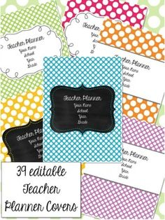 Teacher Planner - Polka Dots Theme {redownload the updates for free each year}