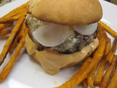 Lamb and Beef Burgers with Chioptle Aioli