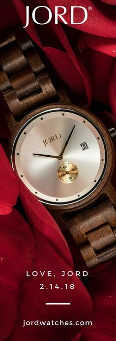2017's hottest holiday gift is 2018's most wanted for Valentine's day! JORD's collection of natural wood watches combine the elegance of natural materials, with the refined design expected in a luxury timepiece. Their wrist is waiting - find their JORD at www.jordwatches.com! | Personalized engraving available - free shipping as always!