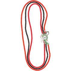 Miu Miu Necklace (17.940.110 VND) ❤ liked on Polyvore featuring jewelry, necklaces, multicolor, multicolor necklace, pave necklace, miu miu, multi color jewelry and laser cut jewellery