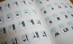 Hangeul typographic design