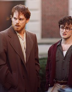 MCH and Daniel Radcliff from 'Kill your Darlings' (really good movie, check it out if you haven't seen it) Michael C Hall, Kill Your Darlings, Really Good Movies, Dane Dehaan, The Libertines, Beat Generation, Movie Shots, Six Feet Under, Jack Kerouac